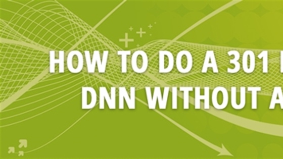 How to do a 301 Redirect in DNN Without a Module