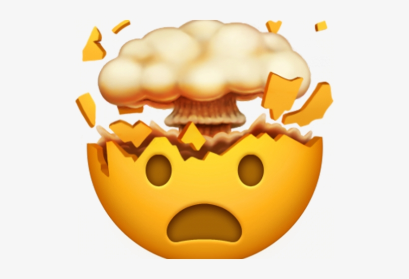 Emoji with head exploding